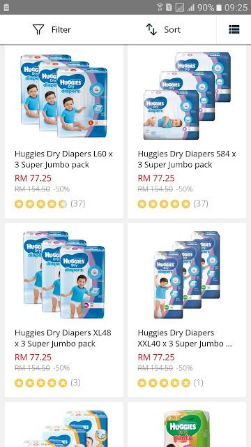 Lazada Malaysia Baby Fair Huggies Dry Diapers Super Jumbo Pack Discount Promo