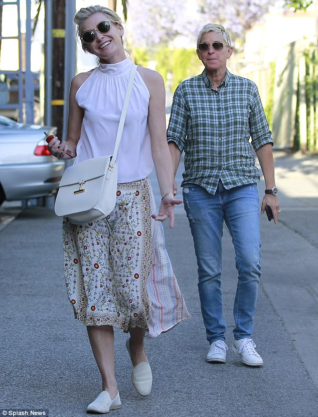 Ellen DeGeneres And Wife Portia De Rossi Spotted On A Date