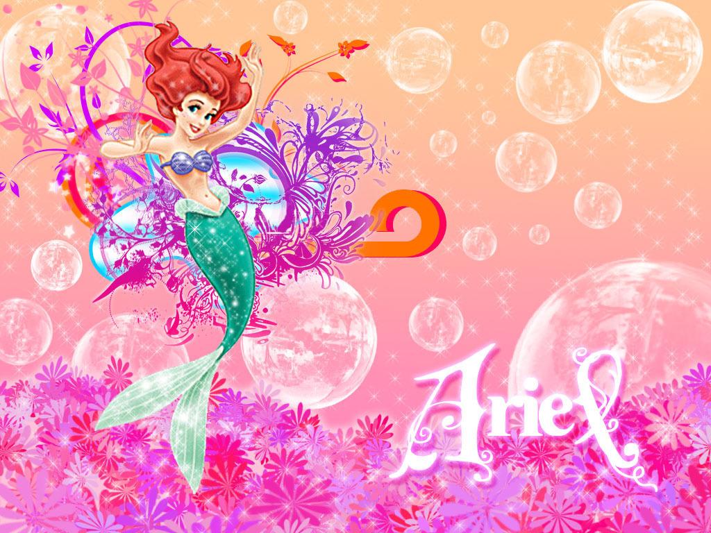 Ariel Little Mermaid Princess Wallpaper Backgrounds