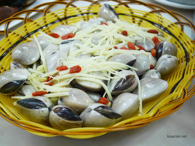 Clams, before being steamed