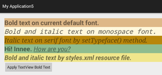 How to display bold text in a TextView in android