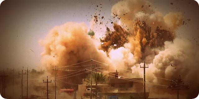 [VIDEO] Pasukan Elit Irak - Kurdi Peshmerga Saling Balas Serang Bom ke ISIS di Mosul