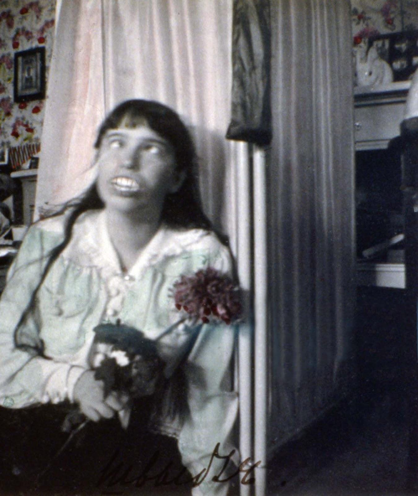 Anastasia Romanov pulling a face.