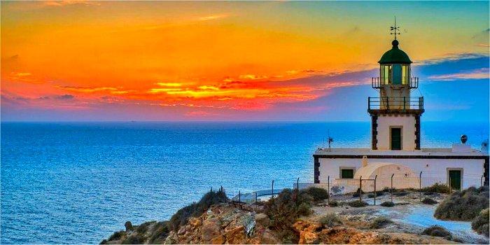 Il posto migliore per vedere il tramonto ad Aktrotiri (Santorini)