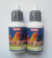 Vitamin Burung Lovebird Ternak D2K