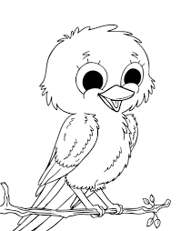 Love Baby Bird Coloring Pages For Print