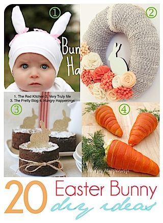 20 Adorable Easter Bunny ideas featured at I Gotta Create!