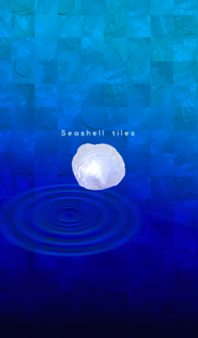 Seashell tiles -coquille blue ripple-