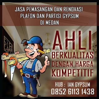 Jasa Pemasangan Gypsum di Medan