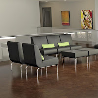 Modular Guest Welcoming Area Seating Configuration