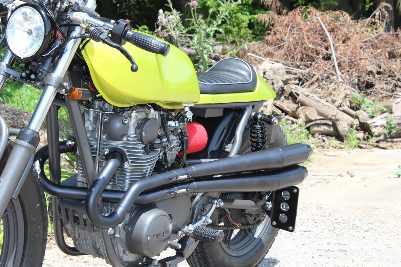 Yamaha XS650 Lime Green Goodness   Return of the Cafe Racers