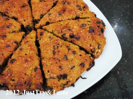 Resep Scone Labu Kuning dan Chocolate Chips