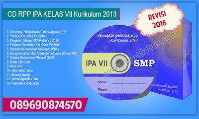 Jual RPP IPA SMP Kelas VII Kurikulum 2013 Edisi Revisi 2016