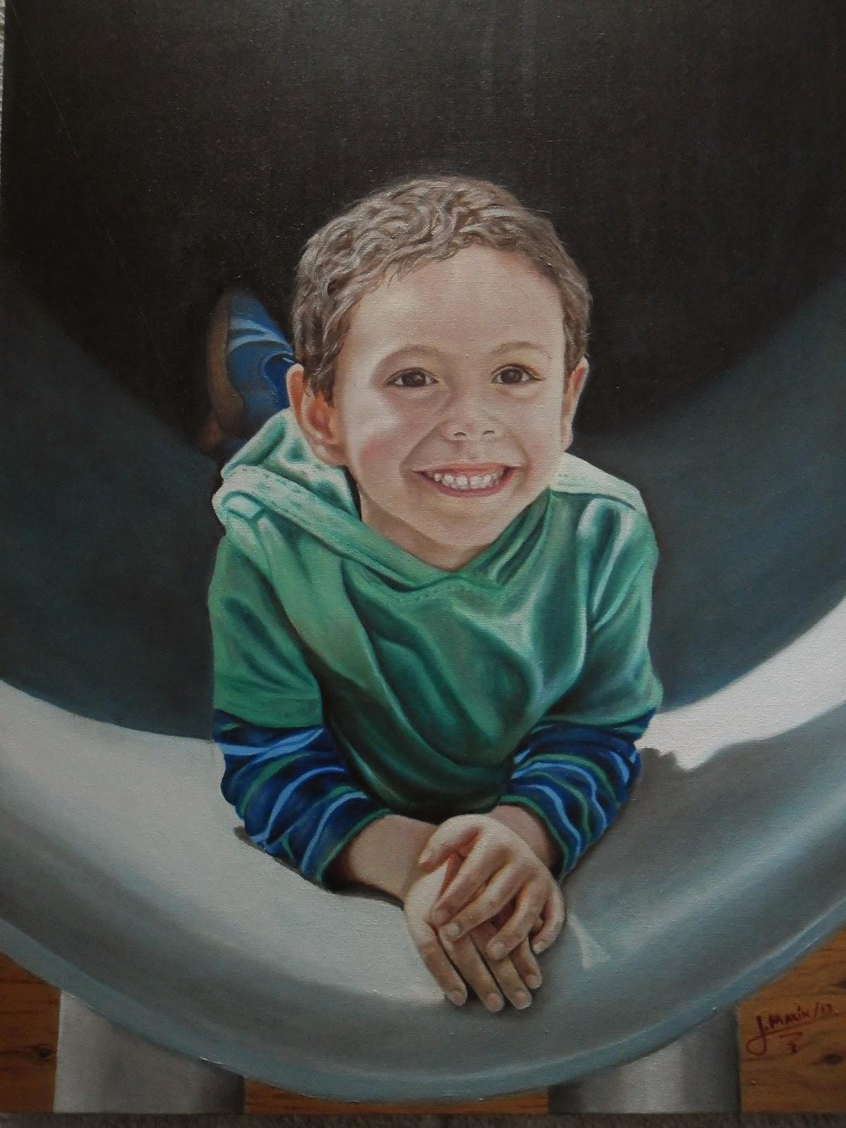 Pintura realista, oleo sobre lienzo Jorge Marín,  artistas realistas de colombia