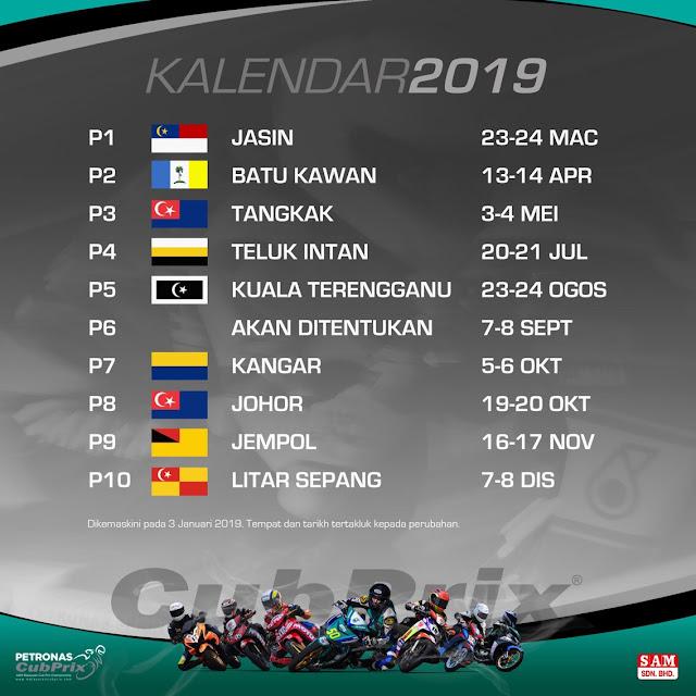 Jadual Pelumbaan Cub Prix Malaysia 2019 (Keputusan)