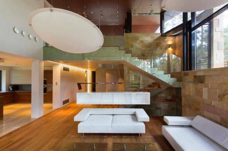 Hogares frescos moderna casa de campo fl gel en tallin - Casas de campo por dentro ...