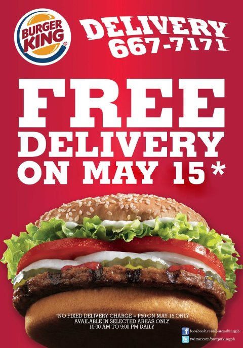 Burger King Delivery Menu | Olivero