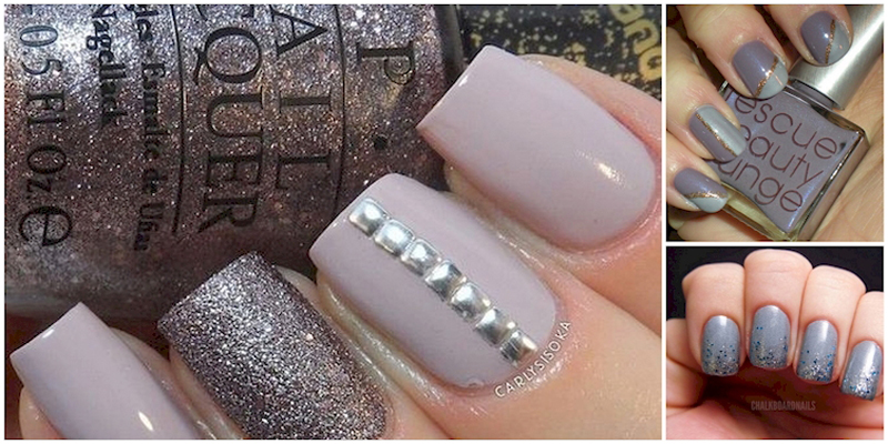 Some best and stunning gray color nail designs that you never we know that these days the trend of gray color many women wear gray dresses bangles and shoes so why you cant try gray nail art prinsesfo Gallery