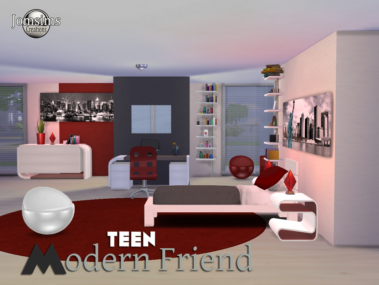 Elegant Modern Friend Teen Bedroom Set By Jomsims The Sims Mod With Teen  Bedroom Sets