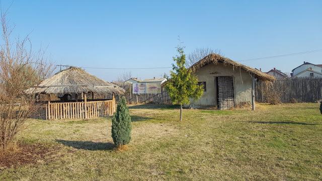 Old neolithic houses- Tumba Madzari, Skopje, Macedonia