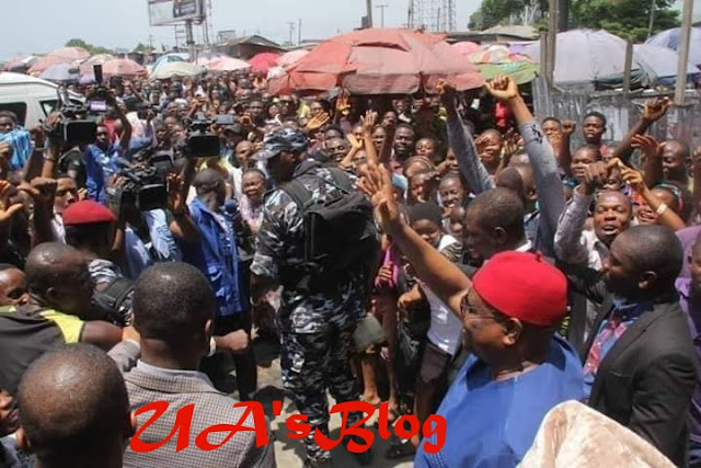 JUST IN: Rivers People Storm Streets, Celebrate Wike