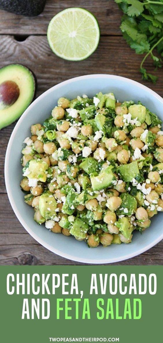 Chickpea, Avocado, & Feta Salad