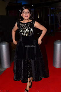 Niveda Thomas Black Sleeveless Cute Dress at 64th Jio Filmfare Awards South 2017 ~  Exclusive 057.JPG