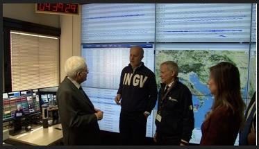 INGV Terremoti ha ricevuto la visita del Presidente della Repubblica Sergio Mattarella