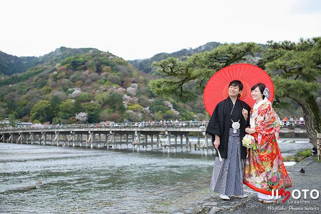 京都前撮りロケーション撮影|渡月橋