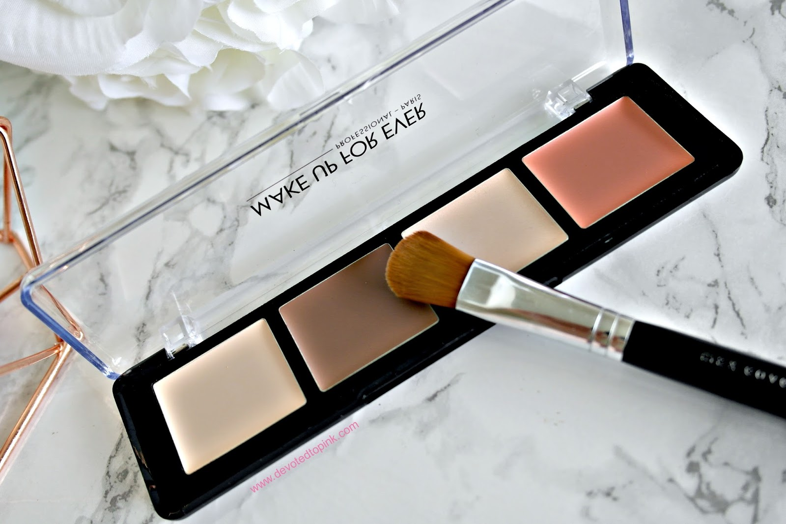 make up for ever, pro sculpting palette, HD pressed powder, Ultra HD Concealer, review, swatches