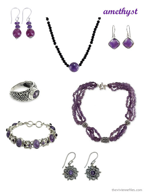 a family of amethyst jewelry