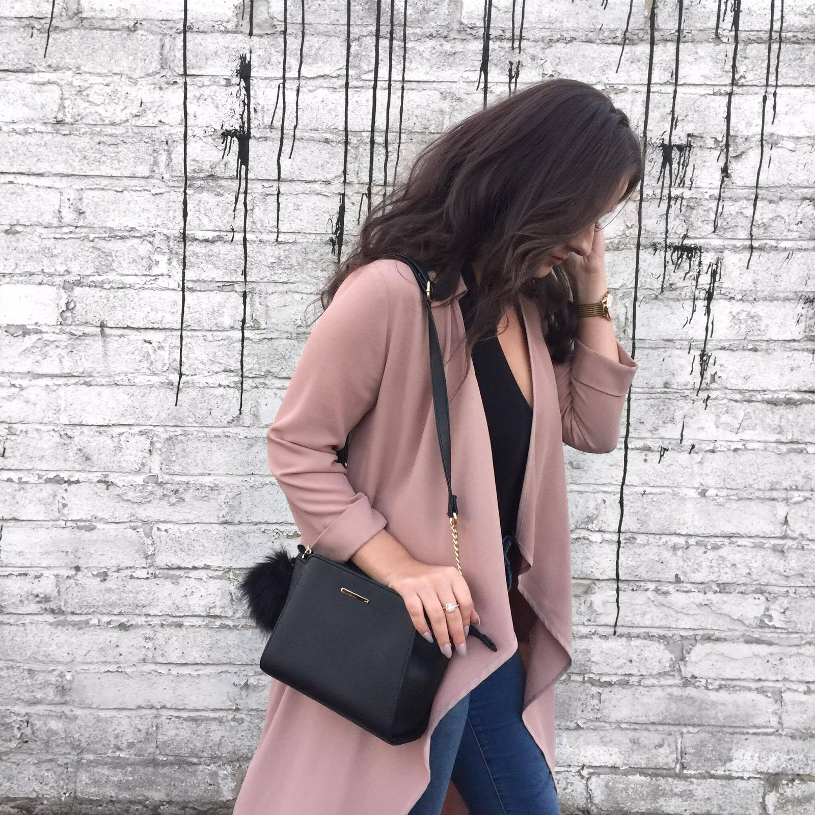 Blush Pink Waterfall Primark Jacket