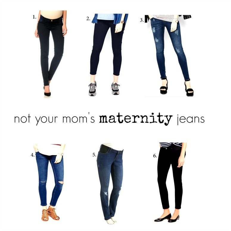 729f41f33be94 {hey! if there can be a 'Not Your Daughter's Jeans' line then I can hit  right back with a 'not your mom's' jab ... although the irony of maternity  denim ...