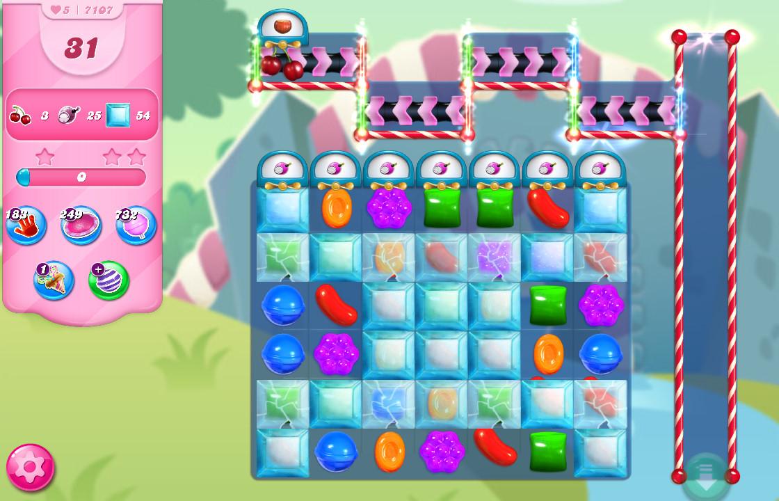 Candy Crush Saga level 7107