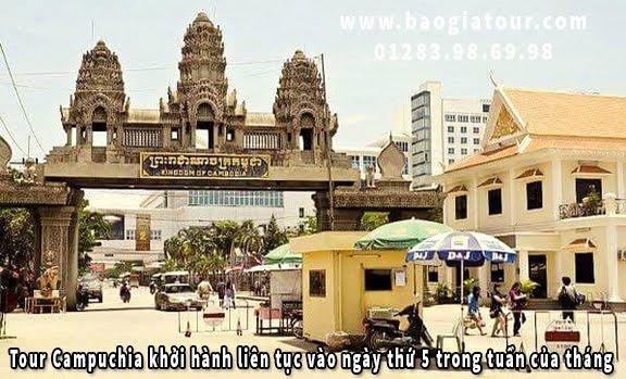 Tour Campuchia khởi hành liên tục vào ngày thứ 5 trong tuần của tháng 4