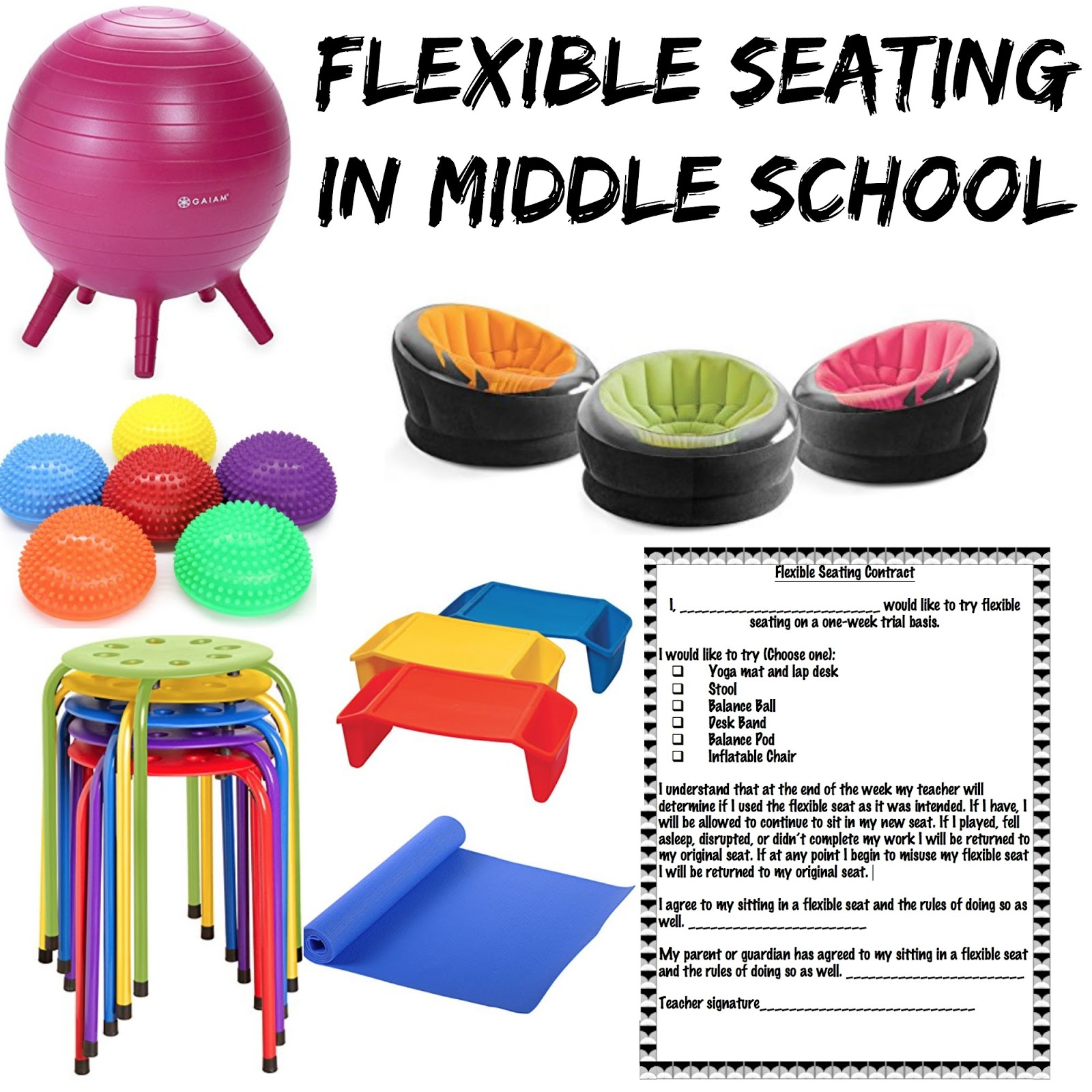 Flexible Seating In Middle School