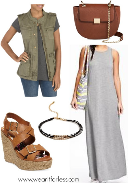 FOREVER 21 beaded multi-cord bracelet • Forever 21 • $2.99 dv Women's dv Chain Strap Crossbody Handbag • $24.99 madden girl Women's Stackful • Madden-Girl • $20.97 Military Twill Vest • $29.99 Maxi Tank Dress for Women • $20