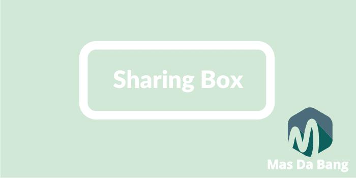 Cara Membuat Social Sharing BOX Tampilan Slide
