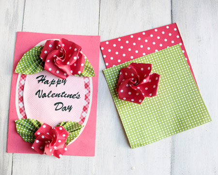 How To Make An Easy Origami Rose And Crafting A Valentine Card