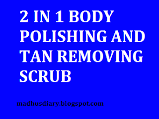 tan removing scrub
