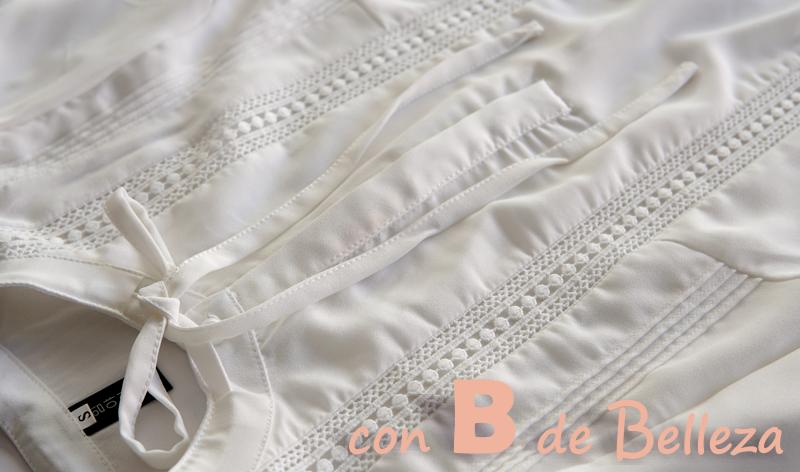 Camisa blanca barroca