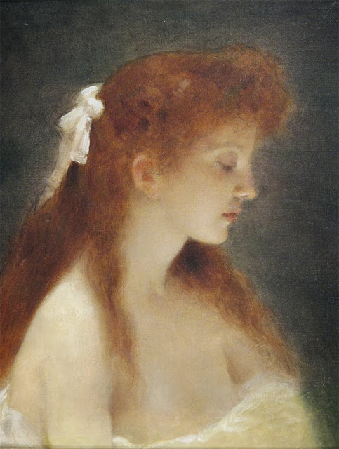Art Blog Edouard Alexandre Sain A Redhead Beauty In Profile