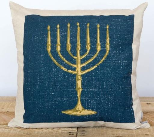 Menorah pillow case - Hebrew gift ideas | Land of Honey
