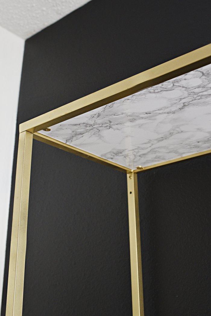 Monica Wants ItA Lifestyle BlogDIY Gold  Marble VITTSJO Shelf