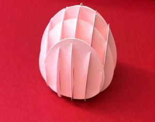 cara membuat telur dari kertas
