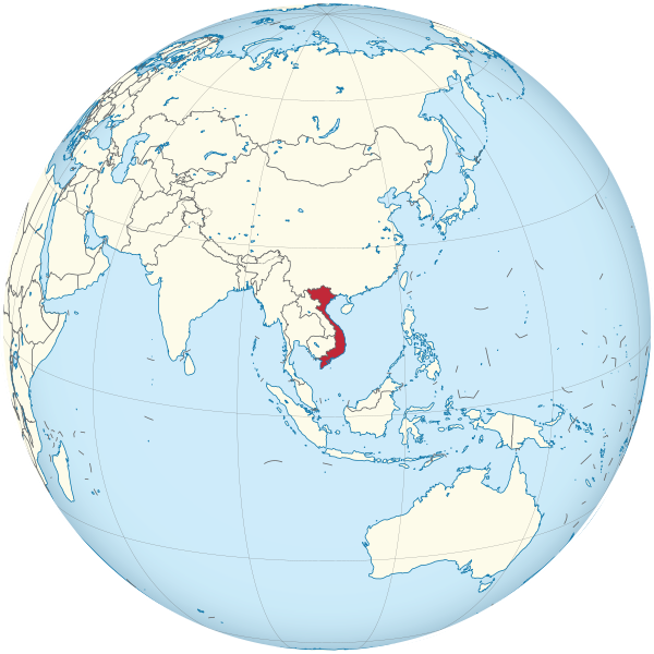 Letak negara Vietnam