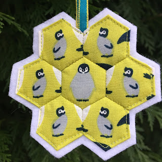 penguin hexagon christmas decoration
