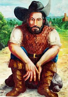 O Bacharel de Cananéia (créditos: Representação imaginária do Bacharel de Cananeia, por Carlos Fabra)