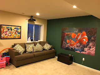 Projector, Basement play area