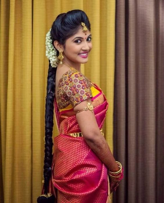 Wedding Hairstyle With Jasmine Flower: 18 Indian Wedding Hairstyles With Jasmine Flowers